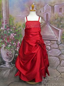 子供ドレス ロザンヌ レッド