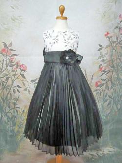 子供ドレス ガーネット ホワイト/ブラック