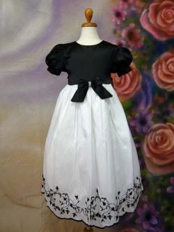 子供ドレス ロザリー ブラック/ホワイト