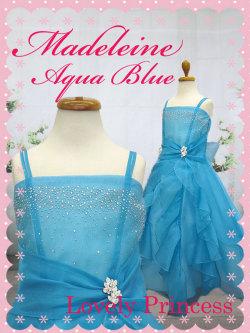 子供ドレス マドレーヌ アクアブルー