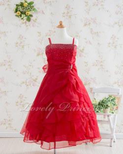 子供ドレス マドレーヌ レッド
