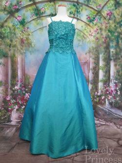 アウトレット演奏会ドレス スパンコール装飾ロングドレス ライトブルー
