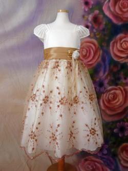 子供ドレス ラナ アイボリー&ゴールド