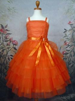 子供ドレス レスフィーナ オレンジ