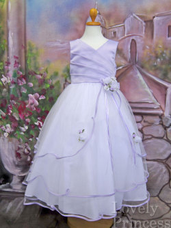 子供用ドレス エミリー ライラック