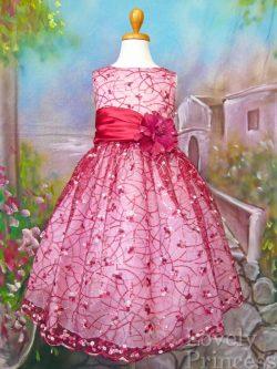 子供ドレス コレット バーガンディ