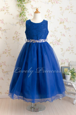 子供ドレス サフラン ロイヤルブルー