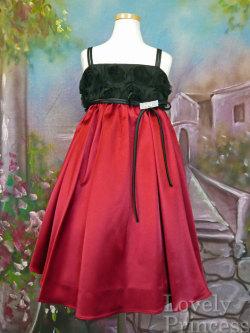 子供ドレス ジル レッド/ブラック