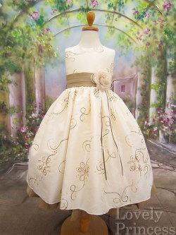 子供ドレス アイボリーゴールド