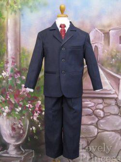 子供用スーツ・5点セット ネイビー(LC3710)
