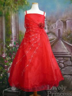 子供ドレス ロゼリア レッド