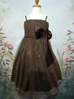 子供ドレス ミリア ブラウン