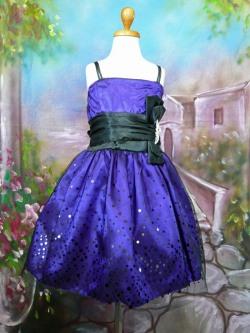 子供ドレス セリーヌ パープル