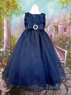 子供ドレス リア ネイビー