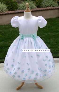 【アウトレット子供ドレス】デイジー グリーン  1T(95cm)C品