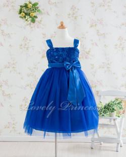 子供用ドレス キャンディ ロイヤルブルー
