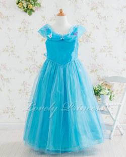 子供ドレス・ジュニアドレス シンデレラ アクアブルー