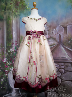 子供ドレス ニコル バーガンディ