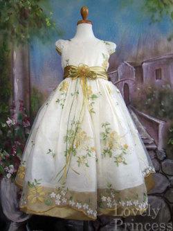 子供ドレス ニコル ゴールド