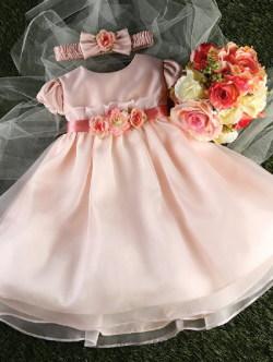 ベビードレス メグ ローズピンク1