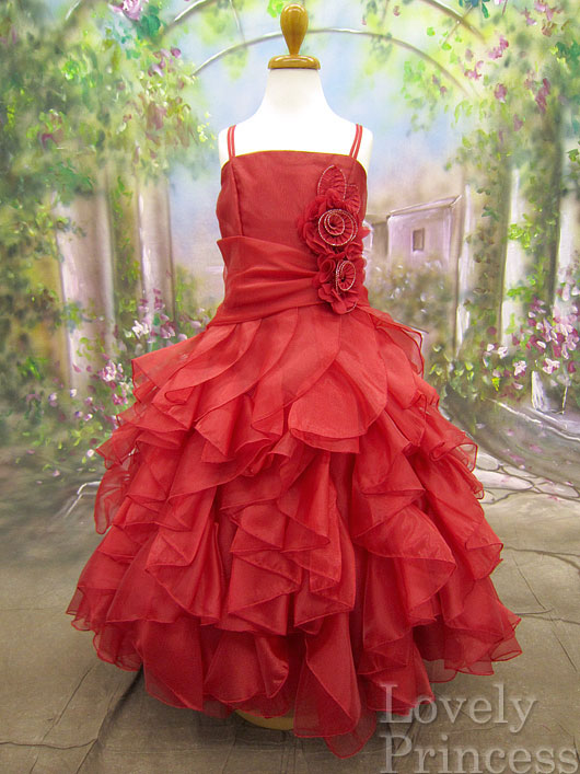 子供ドレス シャーロット レッド