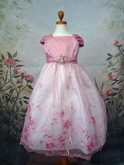 子供ドレス シャイニー ピンク