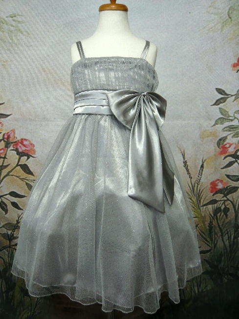 子供ドレス ミリア シルバー