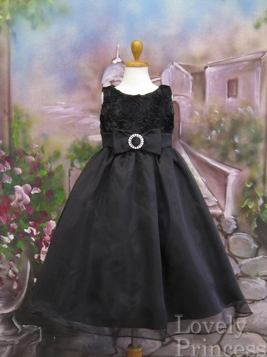 子供ドレス リア ブラック