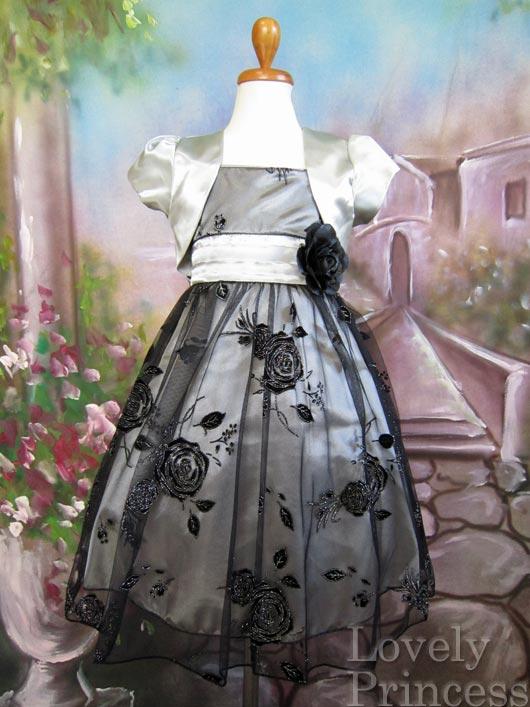 艶やか子供ドレス オーレリア シルバー