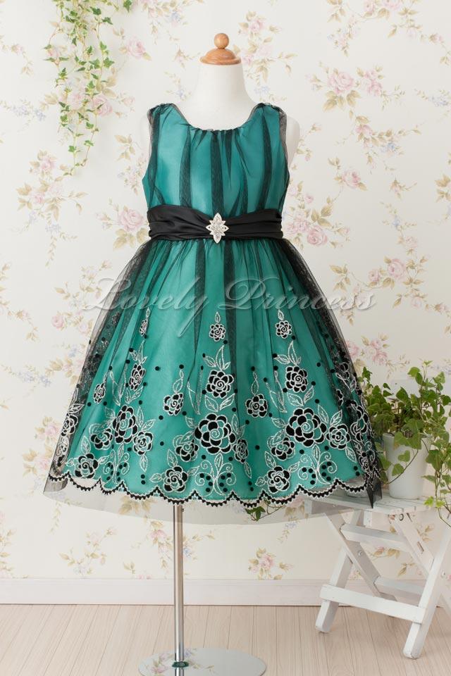 子どもドレス カトリーナ グリーン