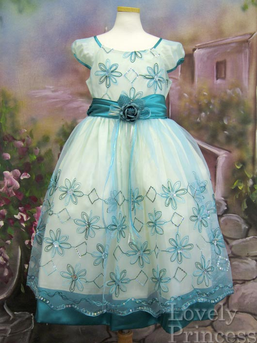子供ドレス ニコル ダークグリーン