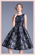 【レディース用】ワンピースドレス ネイビー
