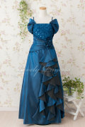 フォーマルドレス レディース用 ステージドレス オフショルダーエレガントロングドレス ネイビー(1495)