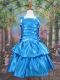 子供ドレス ラメール(サテン) アクアブルー