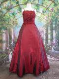 フォーマルドレス フラワースパンコール装飾ロングドレス バーガンディ