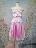 トリプルリボンサテンミニドレス ピンク