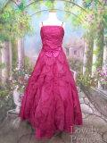 ステージドレス 【アウトレット品】【レディース用】オーガンジーフリルロングドレス コーラル
