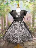 ボレロ付子供ドレス ヴァレリー ブラックホワイト
