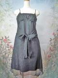 パーティードレス シフォン微ラメようりゅうリボン飾り付ドレスワンピース ブラック