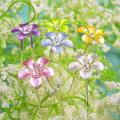 花モチーフUピン1