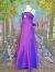 【パーティードレス・ステージドレスロング】グラジュアリーサテンロングドレス パープル