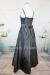 フォーマルドレス フラワースパンコール装飾ロングドレス ブラック(2676)