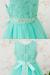 子供ドレス サフラン アクアミント