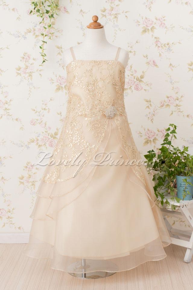 子どもドレス(TK4386) シャンパン