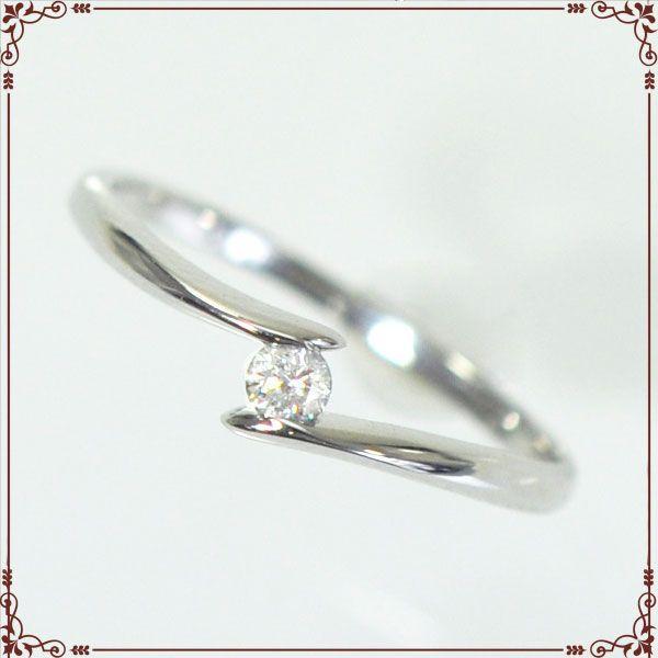 K18ホワイトゴールド 1粒ダイヤモンド リング 【IOR0003】◆最高級ダイヤモンドジュエリー◆