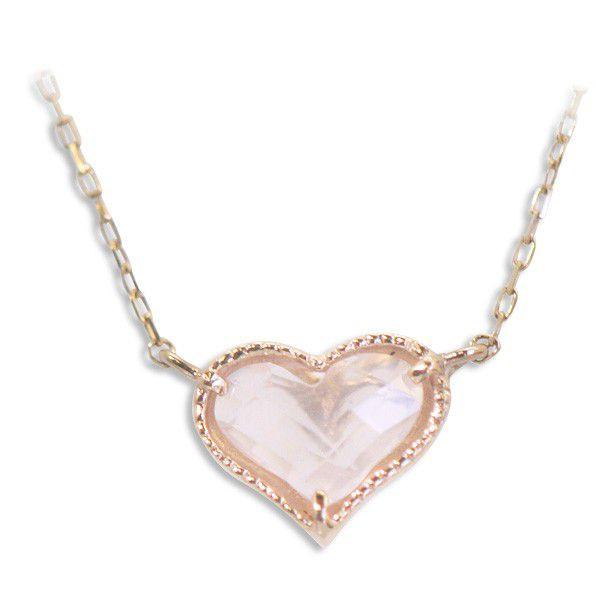 ■数量限定■Lovers&Ring 10金ピンクゴールドハートネックレス~Love Gift Collection~【LSP6009RQPK】