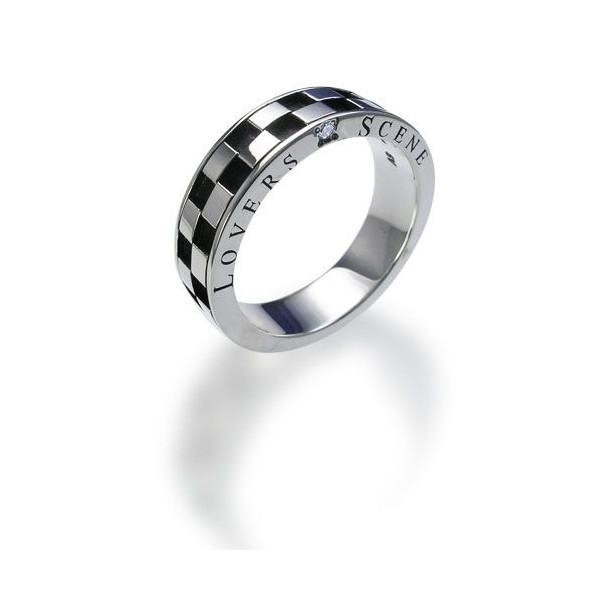 ◆LOVERS SCENE ラバーズシーン◆シルバーリング/メンズ(ダイヤモンド付)【LSR0031DBK】