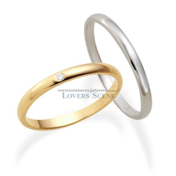 【刻印無料】◆Lovers & Ring ラバーズリング◆K10ペアリング~素材が選べるペアリング~【LSR0601DPK-WG】