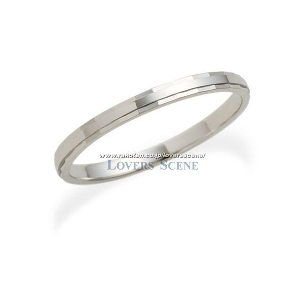◆50%OFF・在庫処分◆17号のみ【刻印無料】Lovers & Ring ラバーズリング K10ホワイトゴールドリング【LSR0603WG】