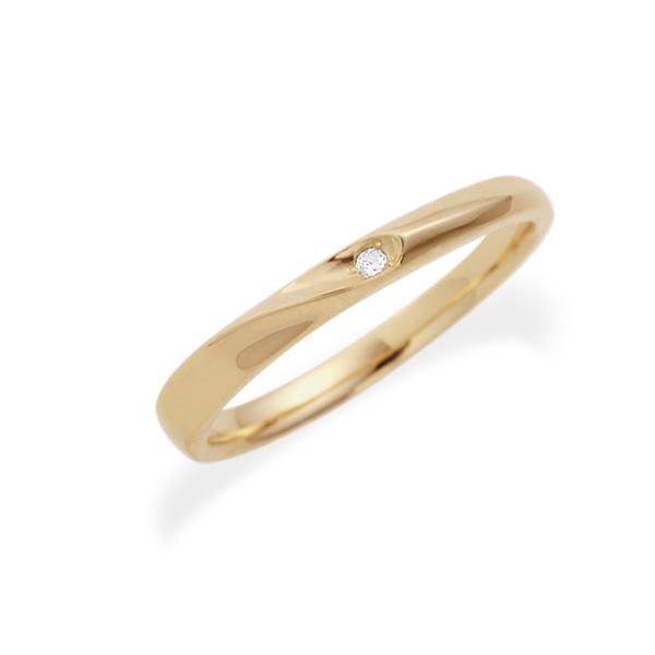 素材が選べるK10ゴールドリング ダイヤモンド付き